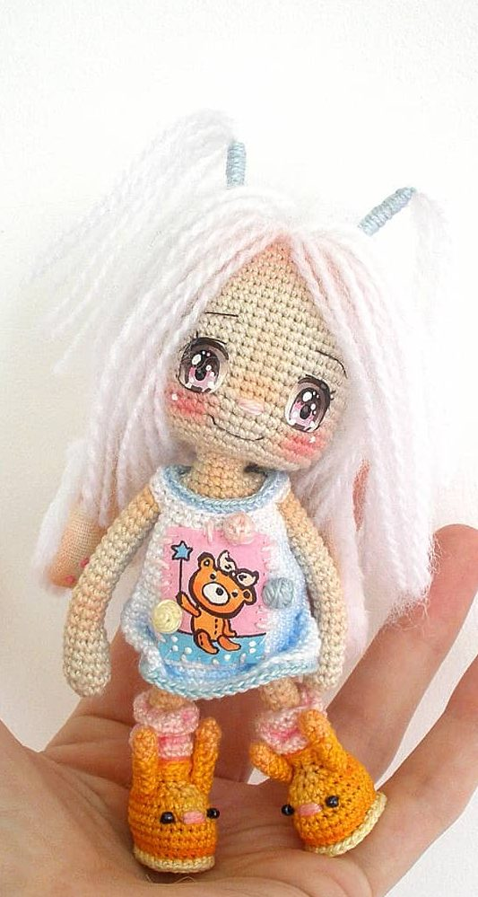 Eva Cute Doll Crochet Pattern » Amigurumi Crochet Patterns By ... | 999x533