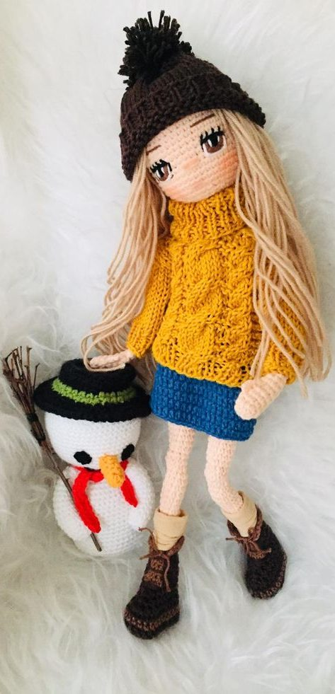 Free Crochet Amigurumi Doll Pattern Tutorials | Crochet doll ... | 981x473