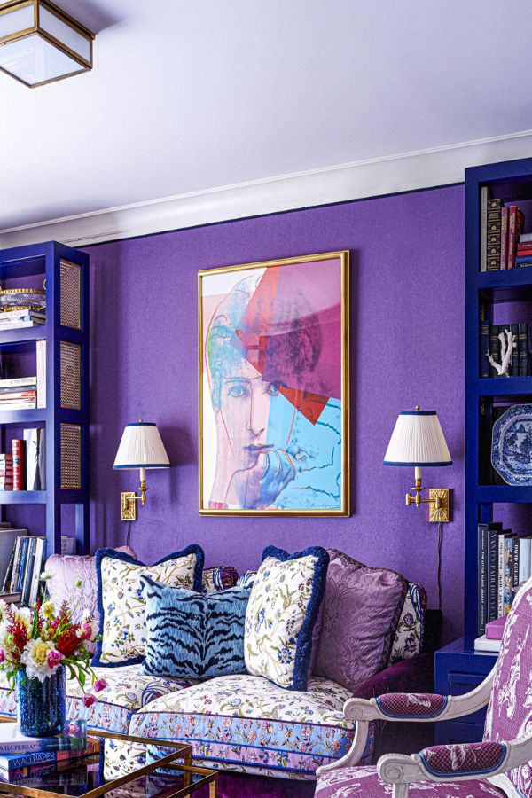 39 colorful and purple living room design ideas in this