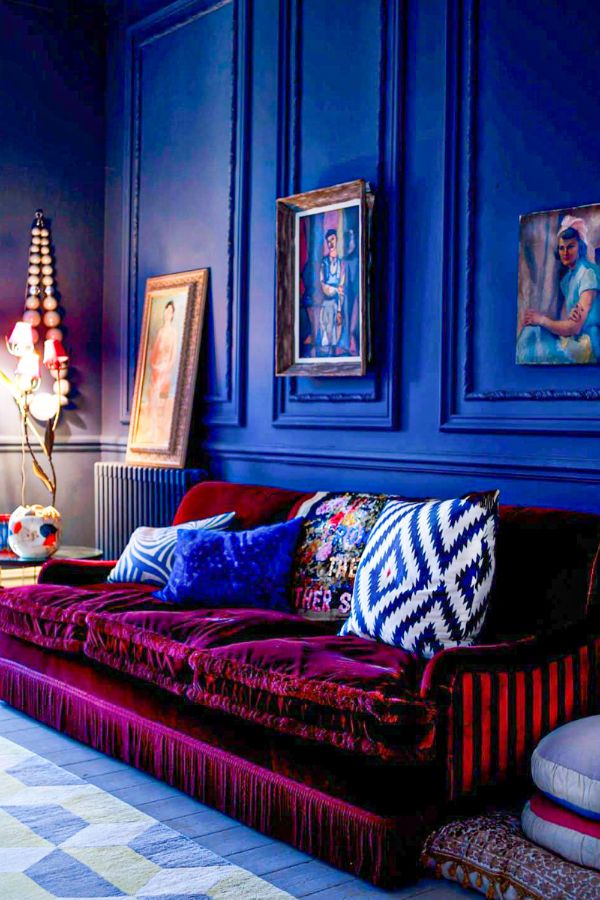 39+ Colorful and purple living room design ideas in This ...
