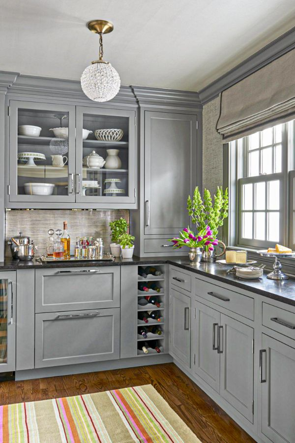 50+ Cute grey kitchen cabinets Design ideas for Home ...