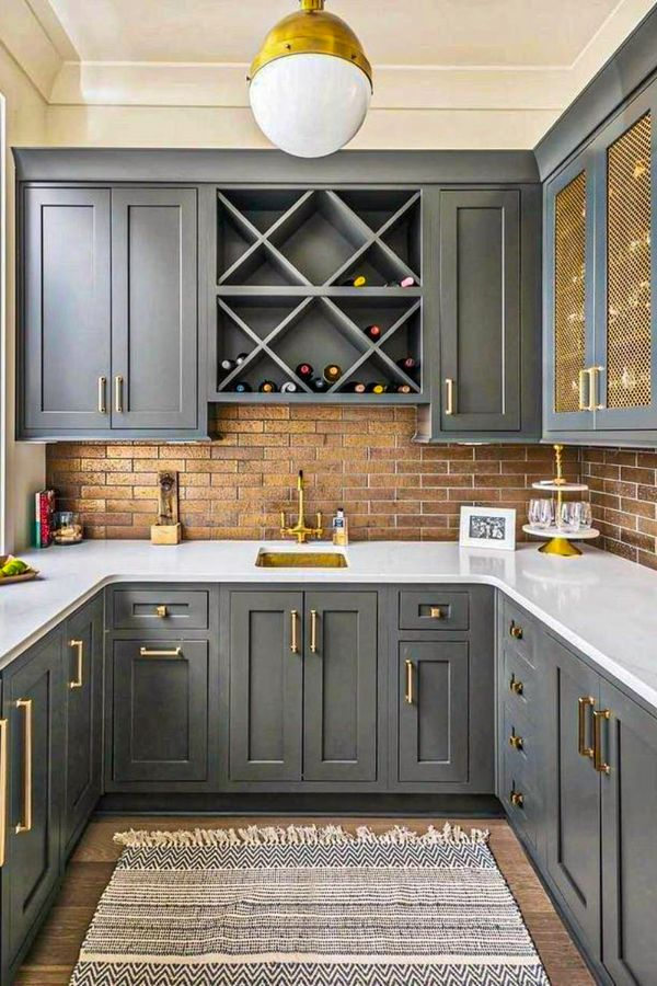 50 cute grey kitchen cabinets design ideas for home