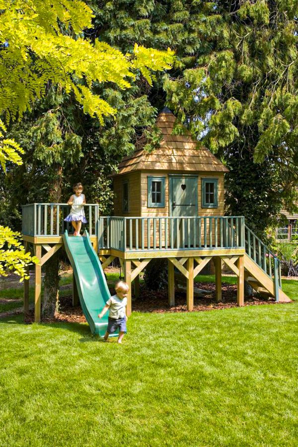 50+ Fantastic backyard playground design and areas for ...