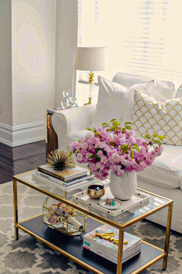 65+ Lovely coffee table decor design ideas for Living Room ...